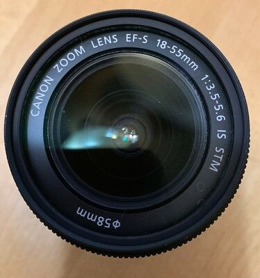 Never Used Canon EF-S 18-55mm f/3.5-5.6 STM IS Lens with UV Filter