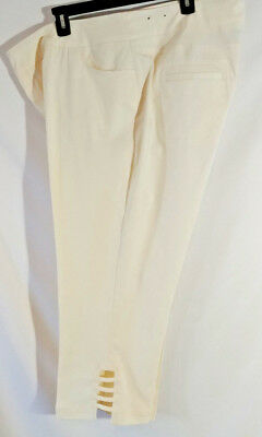 b69e1e64c4ba8 Multiples Slim-Sation Cropped Pants Plus Size 22W Wide Band Pull On Straight