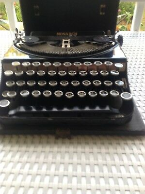 Vintage  Monarch Remington Typewriter -  Black Portable Typewriter
