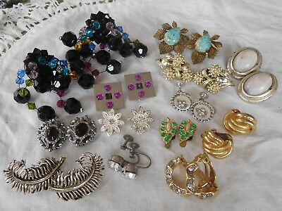 Lovely Collection of Vintage 1950s/60s/70s Clip On Earrings