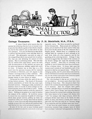 Old Antique Print Cottage Treasures Grandfather Clock ChairPages 1916