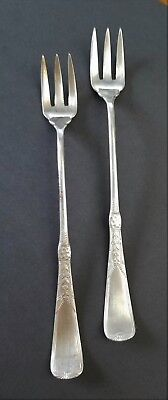 Antique Victorian  AF Towle & Sons Brite Cut Silverplate Hors D'oeuvre Fork