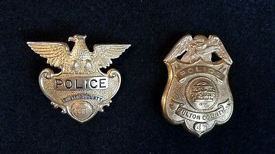 Fulton County Georgia Police Hat and Breast Badge set  VINTAGE OLD SET