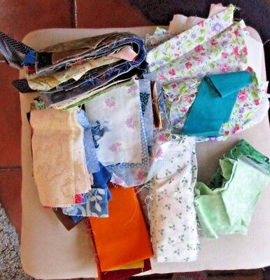 Big Lot Of Quilt Fabric-Cottons-Quilting-Crafts--Sewing- Strips Squares- Pieces