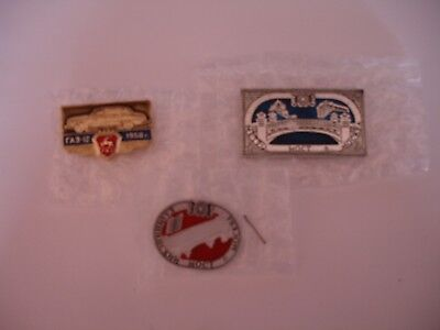 Vintage Rare 3 Russian Car Badges. Excellent Condition.
