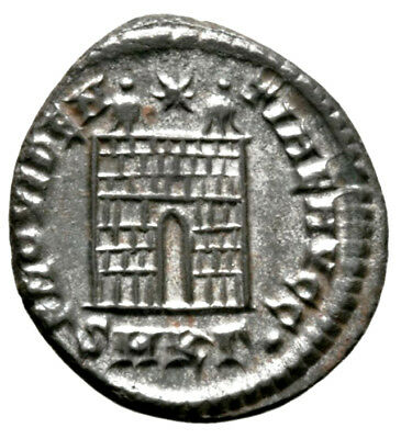 CONSTANTINE THE GREAT (326 AD) BI Follis, Cyzicus #IU 1138