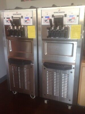 Spaceman 6250 H Air-Cooled FroYo Machine with Hopper.  Show Room Condition