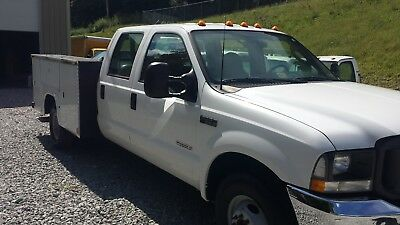 2003 Ford F-350 WORK TRUCK 2003 Ford F350 Crew Cab Diesel Dually Service Utility Tool Bed 2wd Needs Work