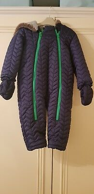 Baby Boy Fleece Lined Snowsuit Age 18-24 Months