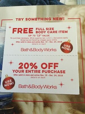Lot Of Of 2 Bath & Body Works Coupons
