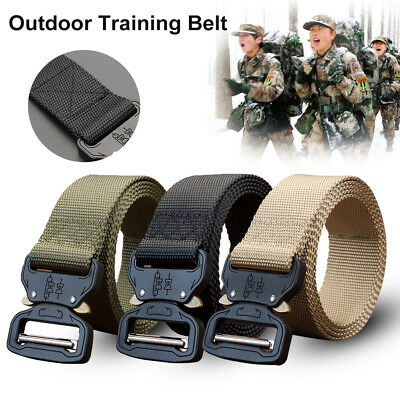 Outdoor Heavy Duty Rigger Army Tactical Belt Quick-Release Metal Buckle
