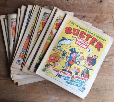 BUSTER AND MONSTER FUN x 21 ISSUES INCLUDING 1ST ISSUE 1976 / 1977