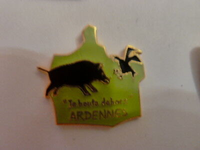 Pin's  Sanglier  / Chasse  Nature    Base Doree  /   Superbe