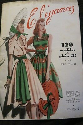 Elegances Belgian Fashion Magazine c1950