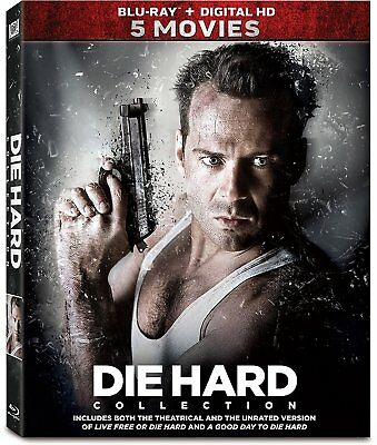 Die Hard-5 Movie Collection 1,2,3,4,5 (Blu-Ray / Digital 1-5) NEW Box Set