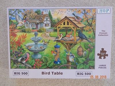 500 BIG PIECE JIGSAW PUZZLE The House Of Puzzles Bird Table Big Pieces