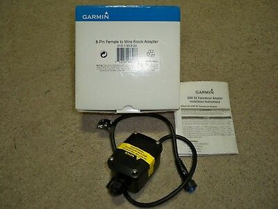 NEW GARMIN 010-11613-00   6-pin Transducer to 8-pin Sounder Adapter Wire Block