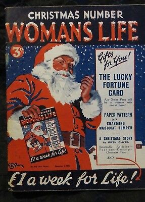 Womans Life Christmas Number December 6th 1924 Paper Pattern enclosed