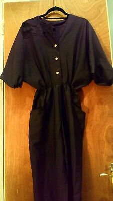 True vintage black studio 54 disco embellished shoulder jumpsuit, size 12-14
