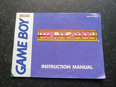 CLASSIC/RETRO : NINTENDO GAMEBOY Ms PAC MAN INSTRUCTIONS MANUAL ONLY***