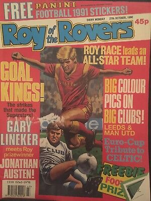 Roy Of The Rovers 27october 1990 Includes Leeds United Unique Picture