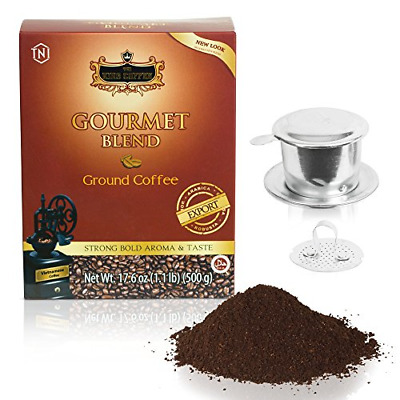 TNI Trung Nguyen Vietnamese Gourmet Blend Ground Coffee - 17.6 ounce mixed - and