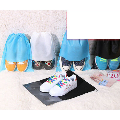 10PC Portable Shoes Bag Travel Storage Pouch Drawstring Dust Bags Non-woven Gift