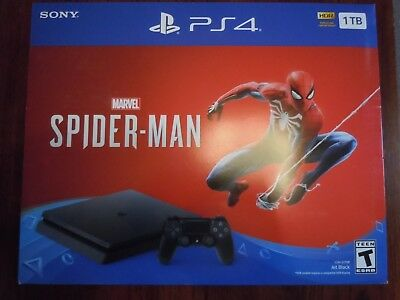 New PlayStation 4 PS4 Slim 1TB HDR Marvel's Spider Man Console Bundle NO RESERVE
