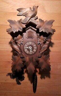 Vintage Black Forest CUCKOO CLOCK Germany For parts or Repair