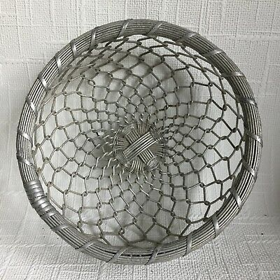 vintage Retro silver metal Wire egg Fruit Flower Succulent Cactus basket planter