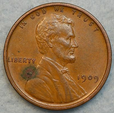 1909 VDB Lincoln Wheat Cent Penny Great Color First Year FREE SHIPPING 15359