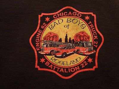 Chicago Fire Department Engine 62 Truck 27 T-Shirt Size XL New Style