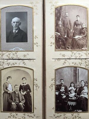 Antique 1800's Curry Family Photo Album Red Cloud Nebraska City Western States