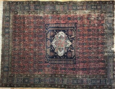 Marvelous Malayer - 1900s Antique Persian Rug - Tribal Carpet - 4.8 x 6.1 ft.