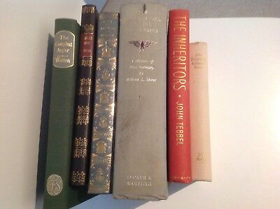 6x VERY COLLECTABLE VINTAGE HARDBACK BOOKS JOB LOT QUALITY BARGAIN BULK BUY