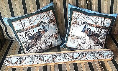 Lovely Pair of Cushion COVERS & Matching Draft Excluder Hand Made Totally Unique