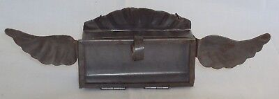 Harley Davidson Style small Tin Box with glass hinged door