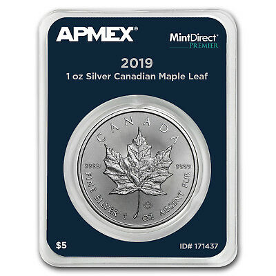 2019 Canada 1 oz Silver Maple Leaf (MintDirect® Premier Single) - SKU#171437