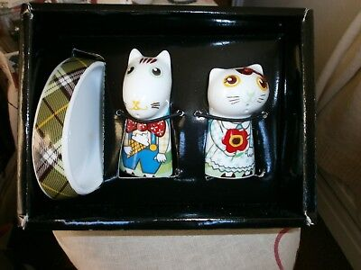 Novelty Salt & Pepper Dog/Cat with Tray - Multiple Choice by Top Choice