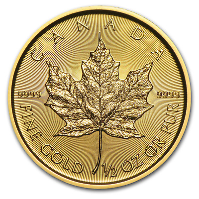 2019 Canada 1/2 oz Gold Maple Leaf BU - SKU#171453