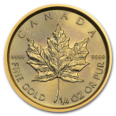 2019 Canada 1/4 oz Gold Maple Leaf BU - SKU#171454