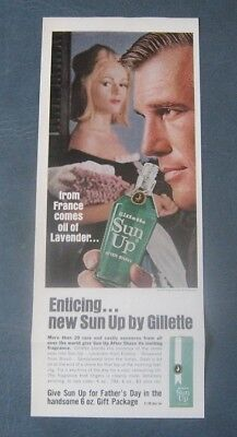 Gillette Sun Up After Shave--1964 Advertisement
