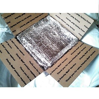 Insulated Foil Bubble Shipping Box Liners 12x12x6 Fits USPS Large Flat Rate  x10