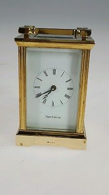 Vintage Mappin & Webb Carriage Clock, 8 Day, Working Order