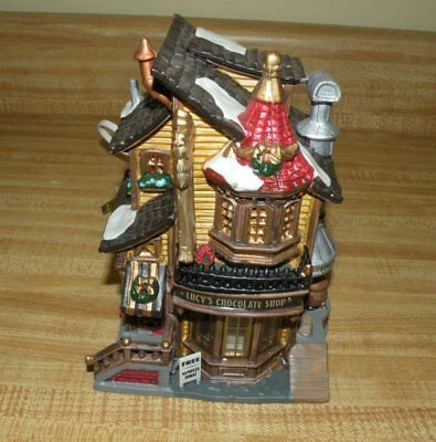 Lemax Lucy's Chocolates Caddington Christmas Village Ceramic House Decoration 04