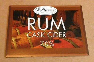 MR WHITEFIELD'S press RUM cask CIDER pump clip badge front