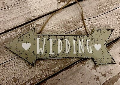 Wooden / MDF Wedding Arrow | Chic Rustic | This Way Hanging Wall Sign Decoration