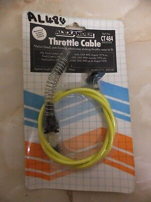 Ford Cortina throttle cable CT484, new.