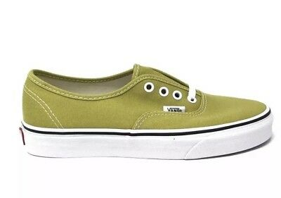 d4c53fee02 New Vans Mens 11.5 Womens 13 Authentic Cress Green True White Shoes Sneakers