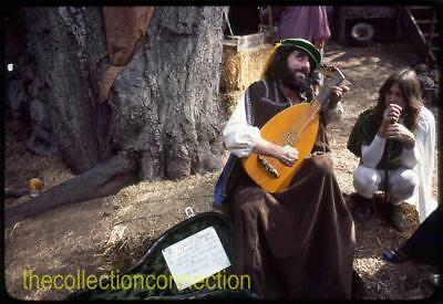 8 Vtg 1980 35mm Slides MEDIEVAL FESTIVAL Costumes Gypsies Musician